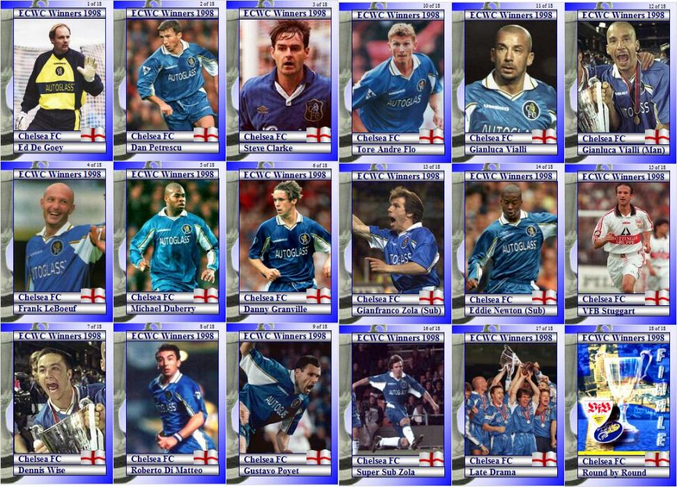Chelsea FC 1970 FA Cup Winners Football Trading Cards
