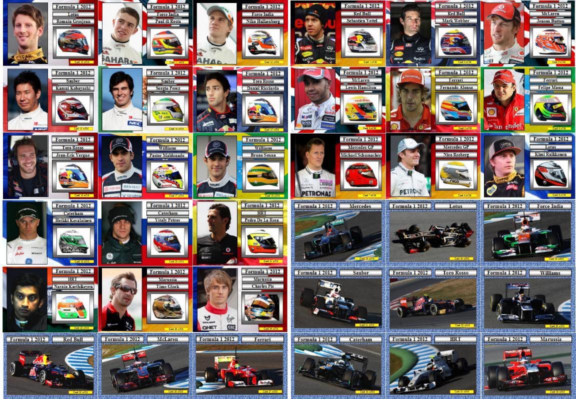 F1 Drivers 2012