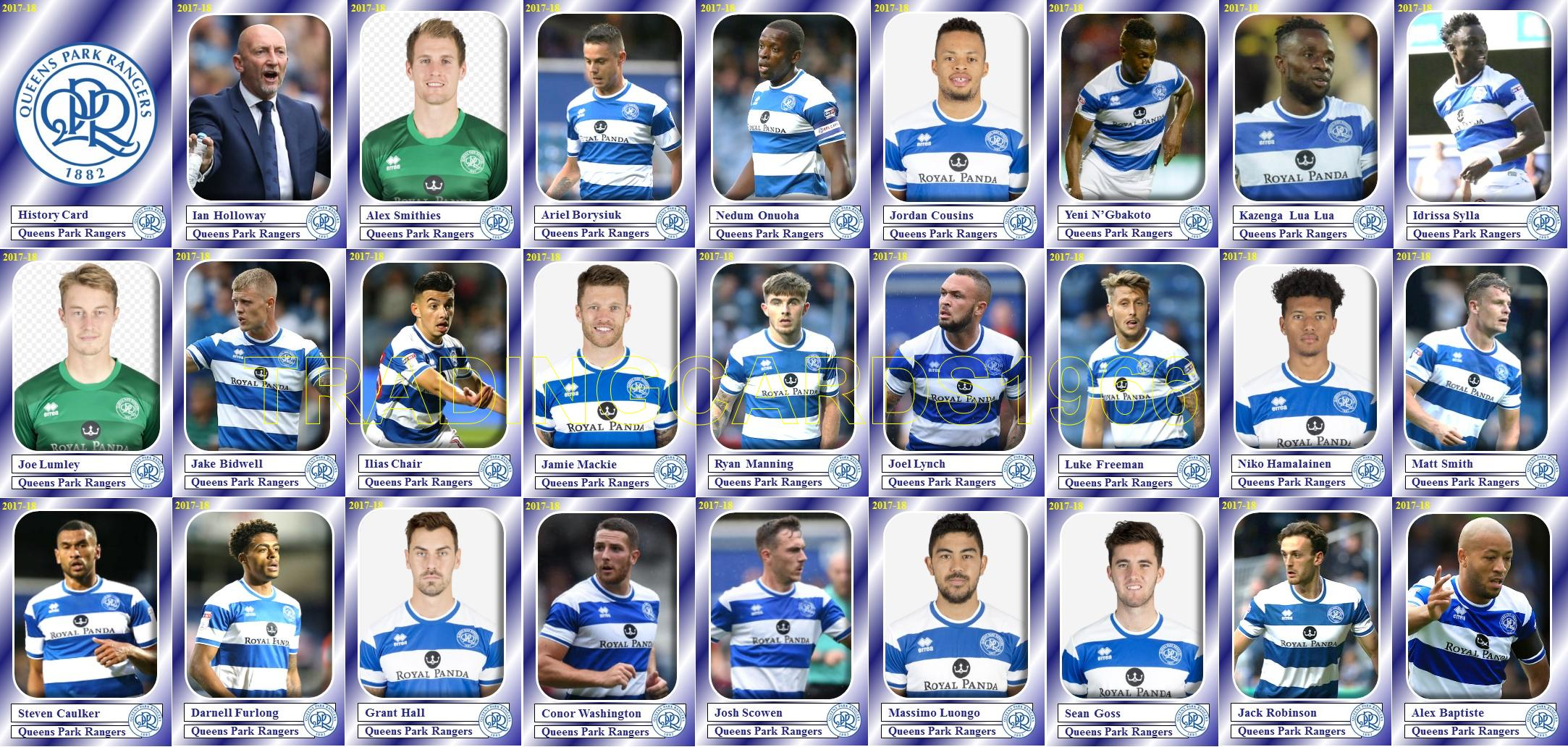 BOLTON WANDERERS FOOTBALL SQUAD trading cards 2017-18