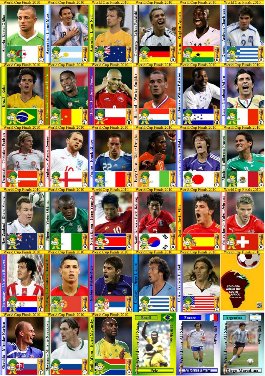 World Cup Cards World Cup in South Africa